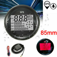 85mm Waterproof GPS Speedometer Odometer Gauge for Car Truck Motorcycle Boat