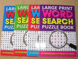 Large Print Word Search Books 40 Puzzles kids off School Activity Educational