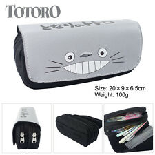 Anime My Neighbor Totoro Canvas zipper Pencil Case Pen Pouch Mobile Phone Bag