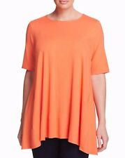 1X EILEEN FISHER Guava lightweight Viscose Jersey Swingy Tunic Top NWT $178