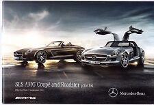 Mercedes-Benz SLS AMG Specification 2011-12 UK Market Brochure Coupe Roadster