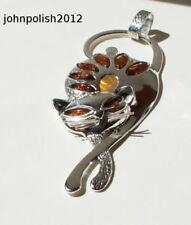Baguette Natural Amber Fine Necklaces & Pendants
