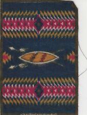 Early 1900s Tobacco Felt Small Rug ,Native American Design