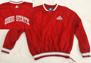 Vtg Ohio State University Buckeyes Starter Pullover Windbreaker Jacket Mens XL