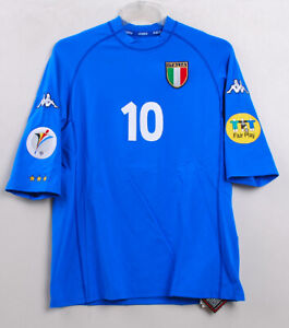 EURO 2000 ITALY Home No.10 Del PIERO S/S Player Issue Size XL