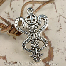 VOODOO - DAMBALLAH - Veve Charm Pendant STERLING Silver 925 Lwa Vodou