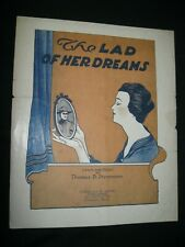 Vintage Sheet Music 1918 The LAD OF HER DREAMS Thomas Stevenson World War  M