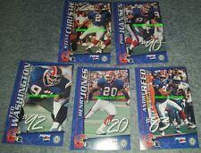 VERY RARE 1998 Buffalo Bills Pepsi 4x6 Poster Card TEAM SET Reed/Christie/Hansen