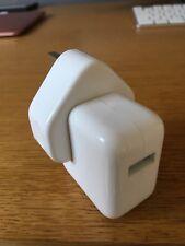 Genuine Apple UK iPad iPhone iPod 10w USB Mains Charger & UK Plug.