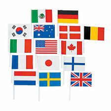 Flags of All Nations International 72 for Party Decorations School Events Cards