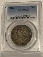 1833 Philadelphia 50C PCGS XF 40