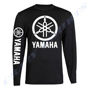 Yamaha Racing Black Long Sleeve TEE YZF R1 R6 Banshee T-shirt Long Sleeve