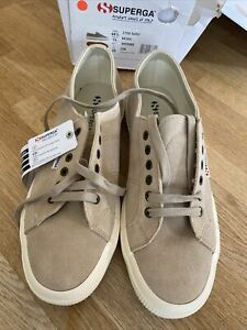 Superga Size 10 Beige Suede Trainers