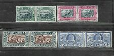 SOUTH AFRICA STAMPS #B5-B8 SET OF 4 PAIR (HINGED) FROM 1938