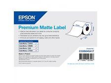 4 Epson Rollo Etiquetas Endlos 51mm Premium MATE c33s045417 tm-c3400 tm-c3500