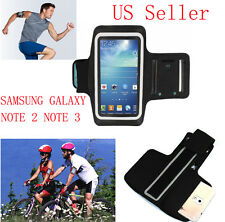 Black Exercise Work Out Fit Running Arm Band Cover Case For Samsung Note 3