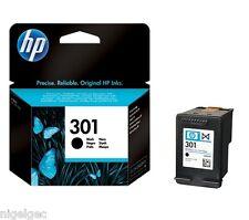 HP 301 BLACK ORIGINAL INK CARTRIDGE CH561EE FOR DESKJET 1050 2050 HP301