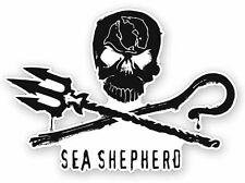 Sea Shepherd Jolly Roger Die-cut Sticker - Anti Whaling, Whale Wars, Pirate Flag