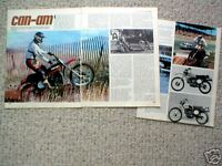 vintage CAN-AM MOTORCYCLE Article / Photos / Pictures: TNT,