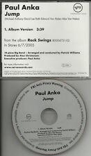 Paul Anka remake cover version VAN HALEN SONG JUMP RADIO PROMO DJ CD Single