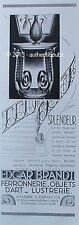 PUBLICITE EDGAR BRANDT FERRONNERIE FER FORGE SIGNE GOEFFT DE 1931 FRENCH AD PUB