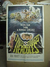 THE THREE STOOGES MEET HERCULES, orig 1-s / movie poster [Larry, Moe, Joe]