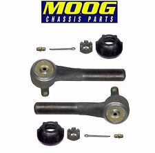 Ford E-250 E-350 Econoline Pair Set of 2 Front Outer Steering Tie Rod Ends Moog