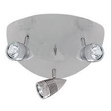 Searchlight Falcon 3 Lights Silver Triangular Ceiling Multi-direction Spotlight