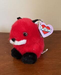 "Puffkins Franklin The Red Fox Plush Style 6648 Birthday 1-31-98 Soft 5"""
