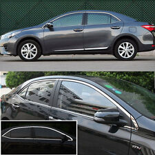 14pcs Stainless Steel Chrome Full Window Frame Sill Trim For Toyota Corolla