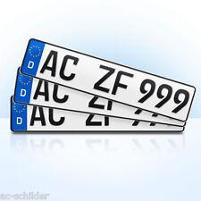 3 x Auto Kennzeichen | KFZ | Wohnwagen | Wohnmobil | Fahrradträger | PKW