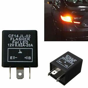 3-Pin CF14 CF-14 Car Flasher Relay Fix LED Light Hyper Blink Flash No Flash