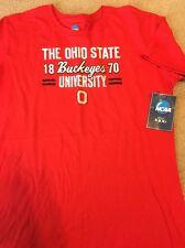 NWT Youth NCAA Ohio State Buckeyes Red Football Tee T Shirt XL, New!