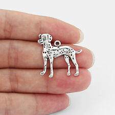 10 Tibetan Silver Animal Dalmatian Dog Charm Pendant For DIY Bracelet/Necklace