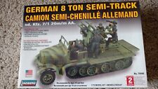 Lindberg German 8 Ton Semi-Track Camion Semi-Chenille Allemand #76086 *NEW*