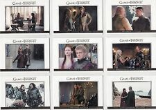 Game of Thrones Season 3 Relationships 20 Card Gold Parallel Set