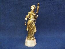 Gilt Bronze statue Fileuse Georges Omerth Onyx base Mixed material c.1900