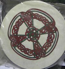 """Musica irlandese 18"""" knotwork Bodhran TAMBURO Battitore DVD COVER 4 oggetti"""