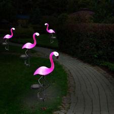 Solar Powered Pink Flamingo Ornament Garden Outdoor Light Lawn Lamp Decor E9S8L