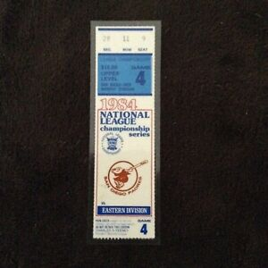 San Diego Padres National League Championship Ticket Stub 1984  game 4