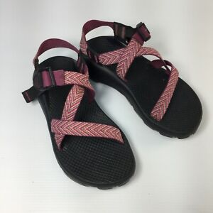 Chaco Z Cloud Unaweep Pink Open Single Strap Womens Water Hiking Sandals Sz 6