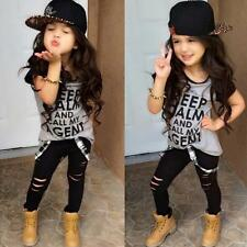 2pcs Toddler Kids Baby Girls T-shirt Tops+Pants Leggings Outfit Clothes Set 110