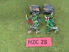 Warhammer Fantasy AoS 2 painted oop metal Orcs & Goblins Savage Orcs w/ Champ