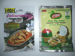 6 SET Panang Curry Paste Coconut Milk Powder thai food near me,thai restaurant