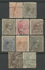 No: 77422 - PUERTO RICO (SPAIN) - LOT OF 10 VERY OLD STAMPS - USED!!
