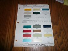 1966 International Kaiser Jeep Commercial Ditzler PPG Paint Chips