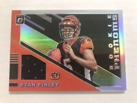 2019 Panini Optic Ryan Finley Rookie Phenoms #RP6 Silver Holo Relic RC Bengals