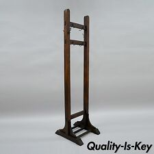 Quaint Furniture Stickley Brothers Mission Oak Double Coat Tree Stand Hat Rack