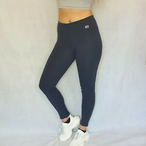 Womens CHAMPION Navy Jersey leggings with Logo Size Small Gym Running