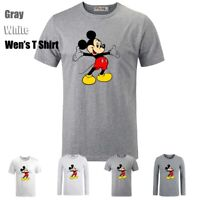 Disney Mickey Lovely Open Arms Graphic Long Short Sleeves Men's Boys T-Shirt Top